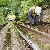 Système rail antichute incliné COMBIRAIL VERTIC