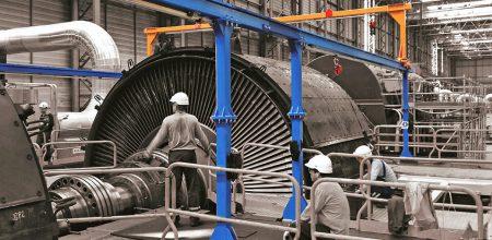 Installation d'un ALTIRAIL sur portique pour maintenance des machines