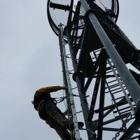 Ligne de vie verticale VERTILIGNE sur pylône télécommunications