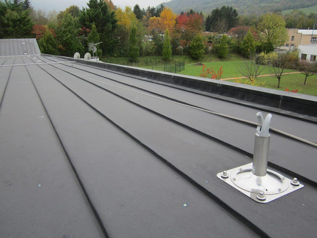 Ligne de vie toiture zinc