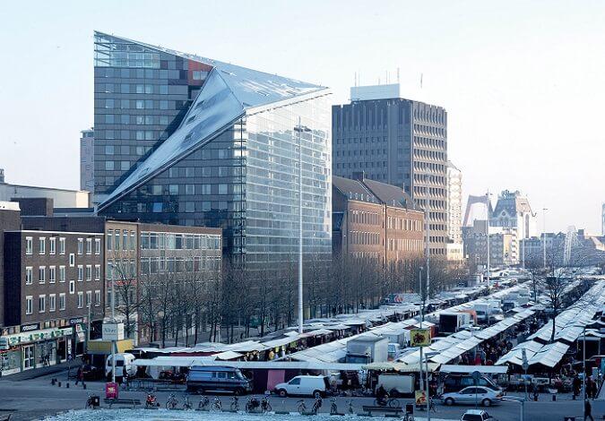 building city de Rotterdam - combirail et points d'ancrage Vertic