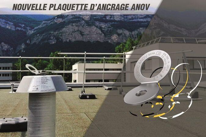 ANOV-VERTIC plaquette ancrage pivotante
