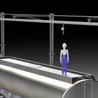 Rail grande portée portique