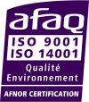 ISO 9001 et 14001 violet